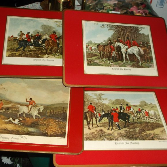 none Other - vintage hard board and cork place mats